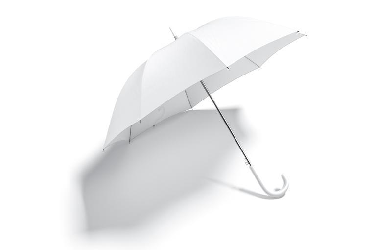 biały parasol